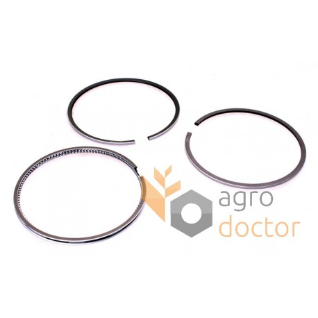 set rings installation piston of