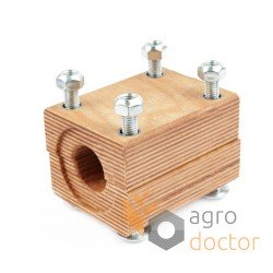 Wooden bearing 618254 for Claas harvester straw walker - 61x80x105mm [TR]