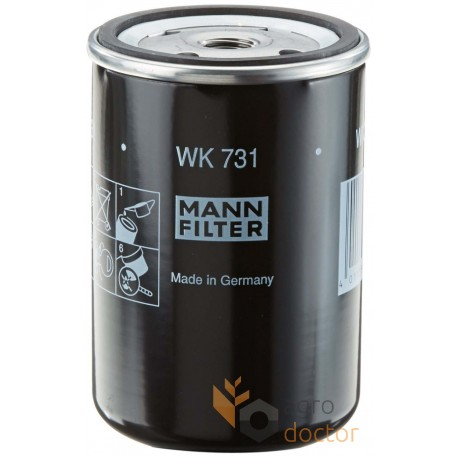 Fuel filter WK731 [MANN] OEM:WK731 for CASE, Claas, order at online shop  agrodoctor.eu