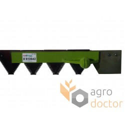 Knife assembly 610642 Claas for 2600 mm header - 35.5 serrated blades