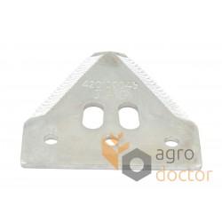 Grain head cutter bar knife section H168316 for John Deere, Deutz Fahr combines