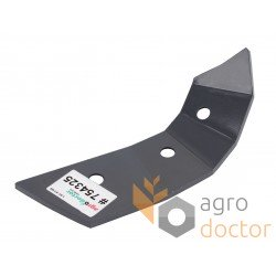 754325 Claas Lexion right rotor cover - 3 holes, 12mm