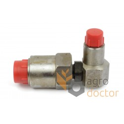 Threshing drum hydraulic valve