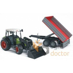 Toy-model of tractor Claas NECTIS 267F (with trailer)