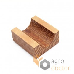 Wooden bearing 687106.0 for Claas harvester straw walker - (1/2) d35mm