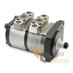 Double section hydraulic gear pump 656860.0 for Claas combine [Hydropac]