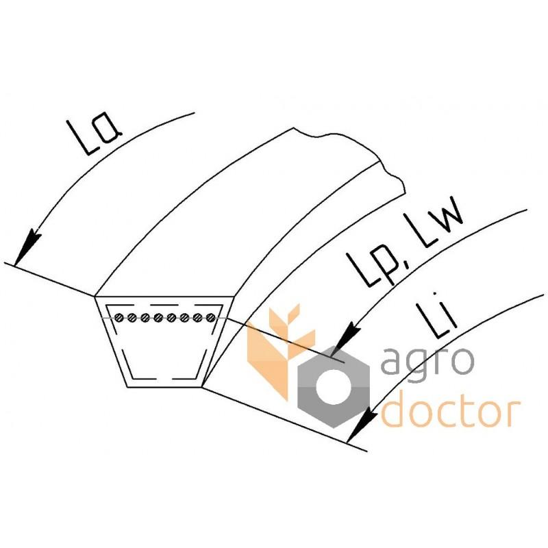 OPTIBELT V Cinturón A1350Ld 13x1320Li A52