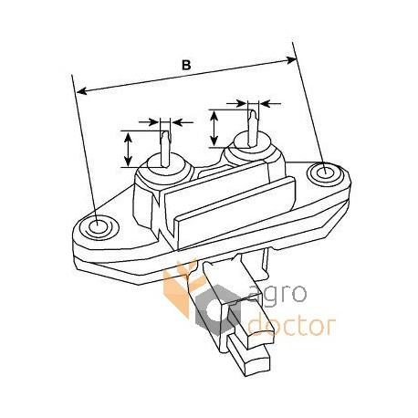 Alternator voltage regulator 132666 [Cargo]