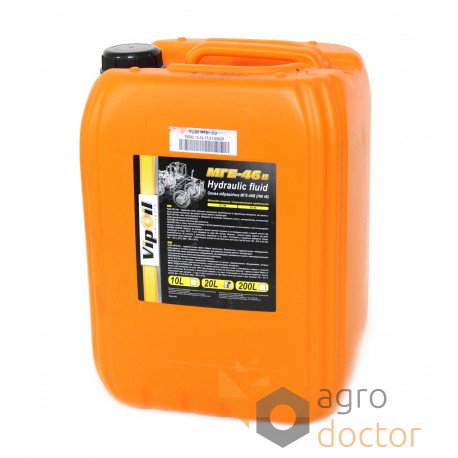 Hydraulic oil MGE-46V 20L (Vip Oil), Buy in eShop: agrodoctor eu