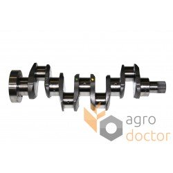 Crankshaft (1/6 holes, lip seal) 31315981 Massey Ferguson for engine Perkins [Genmot]