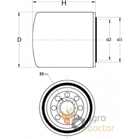 cooling system filter wf2071 fleetguard oem wf2071 for. Black Bedroom Furniture Sets. Home Design Ideas