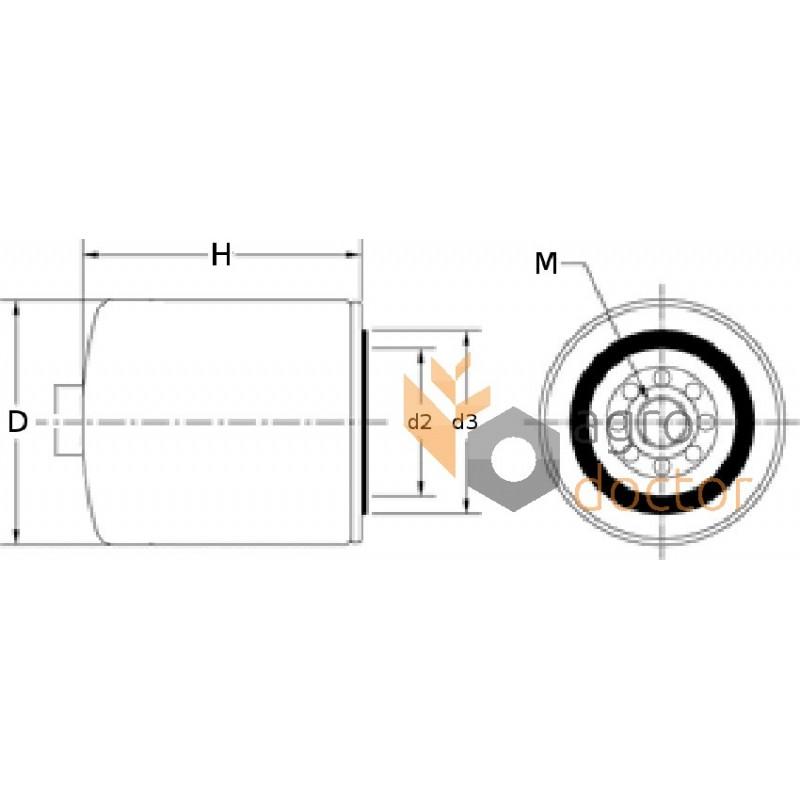 fuel filter re525523  re541746  set  john deere