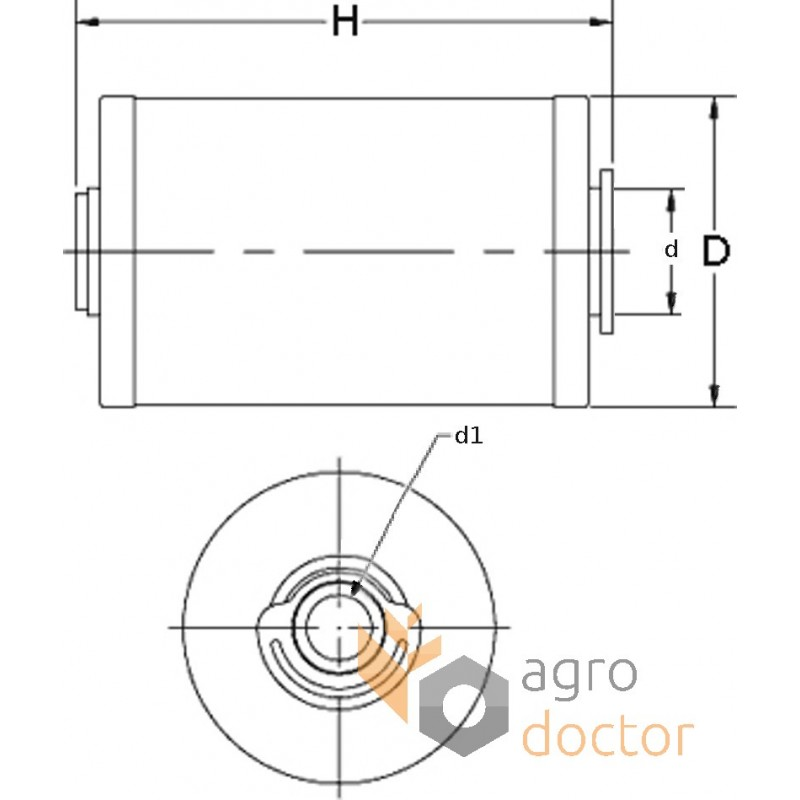 fuel filter  insert  95133e  wix  oem 133602 0  95133e for claas  deutz  buy in eshop  agrodoctor eu