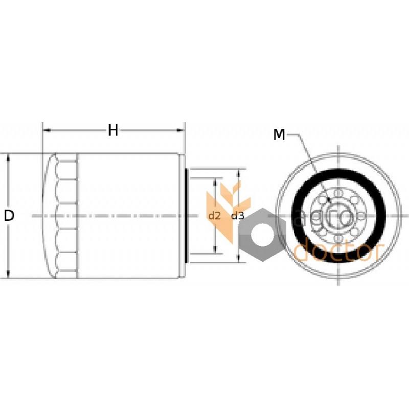 oil filter w936  4  mann   4 for case