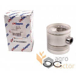Piston with pin for engine - 741335M91 Massey Ferguson
