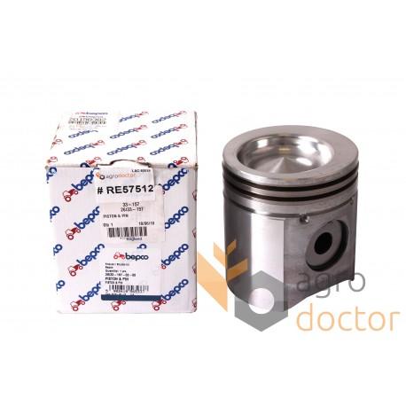 Piston with pin for engine - RE57512 John Deere [Bepco] OEM:RE57512 for  John Deere, Buy in eShop: agrodoctor eu