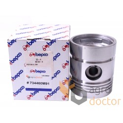 Piston with pin for engine - 734460M91 Massey Ferguson [Bepco]