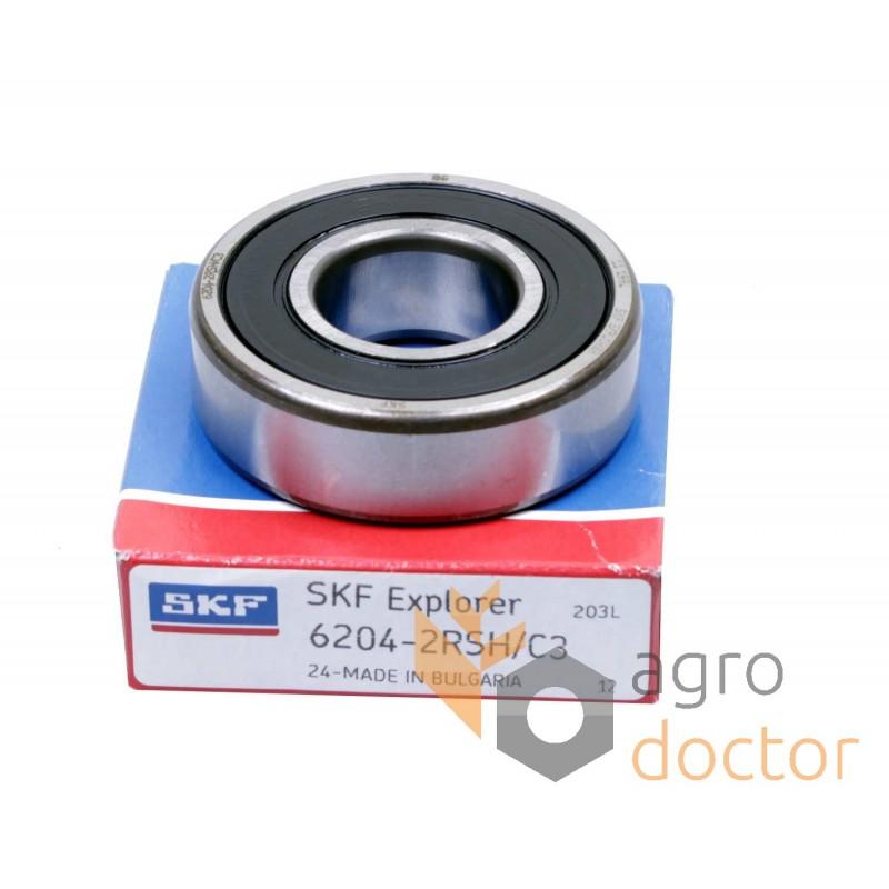 Deep Groove Ball Bearing 6204-2RS//C3 20x47x14 mm.