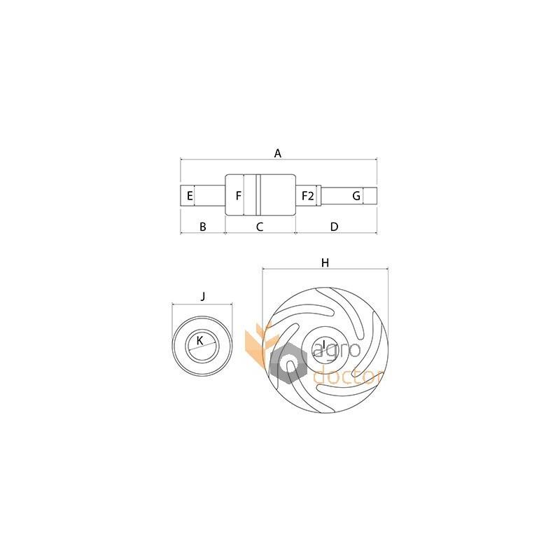 Water Pump Repair Kit Engine U7lw0151 Perkins Omp Oemu7lw0151