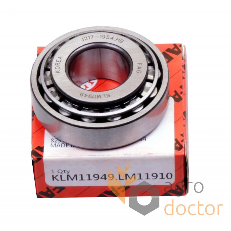 tapered roller bearing application. lm11949/lm11910 [fag] tapered roller bearing application