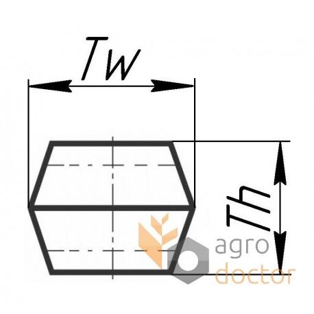 Correa de accionamiento hexagonal 0619071 x [Harvest Belts]