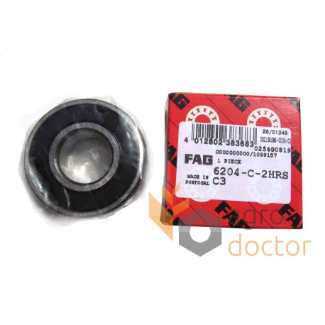 FAG 6204 2RSR C3 Deep Groove Roller Bearing Single Row