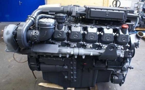 Four Stroke Diesel Engine Manufactured By Mercedes Benz With A Volume Of  10,965 Cubic Centimeters (657 Cubic Inches). This Is The Third Generation  Of ...